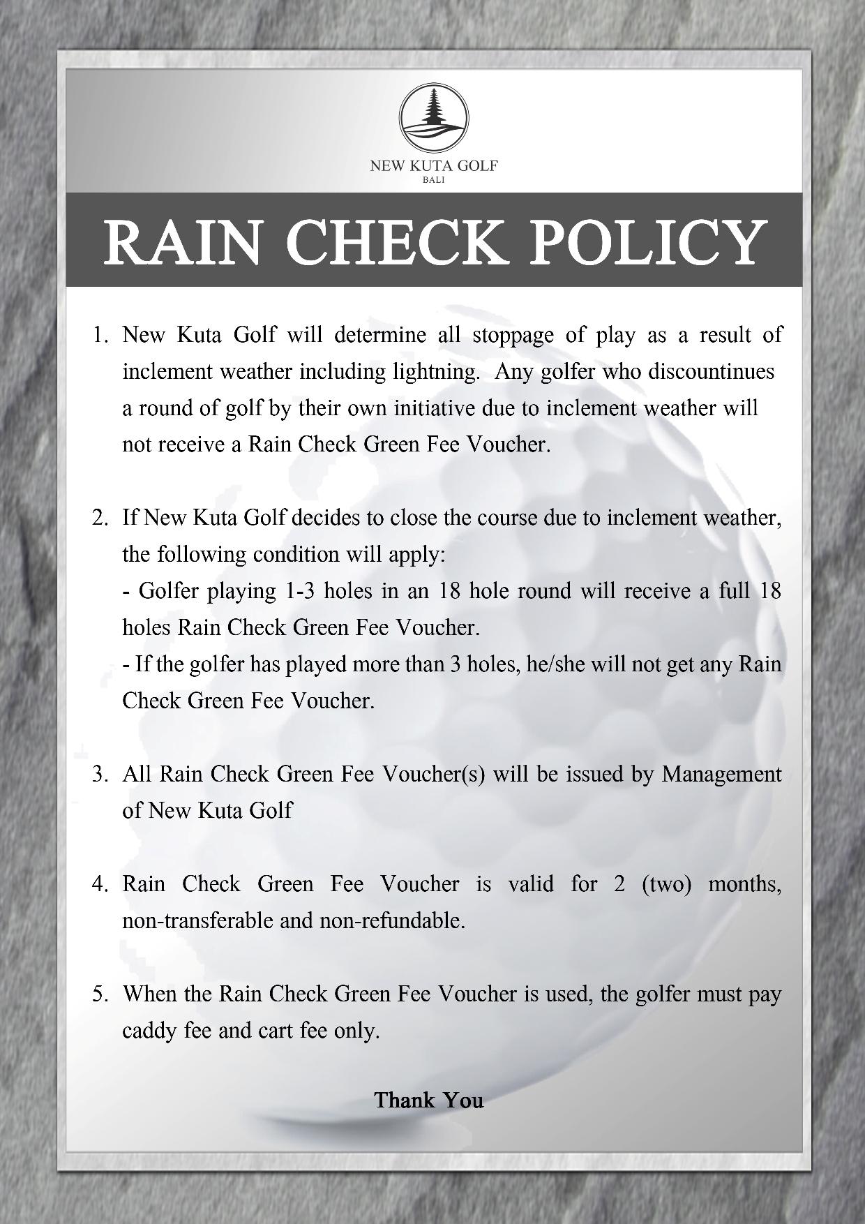 rain check 2017